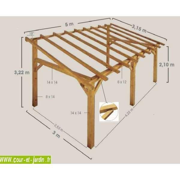 Abri Velo En Palette Inspirant Collection Auvent Sherwood Structure Carport Adossé 5mx3