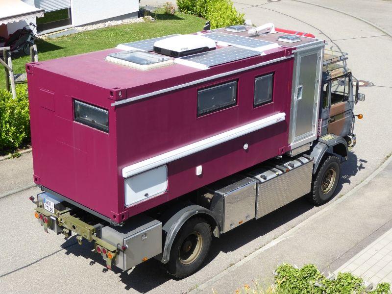 Abris Moto Pliable Luxe Collection Aufbau Eines Weltreisemobils Auf Basis Eines Allrad Lkws Und