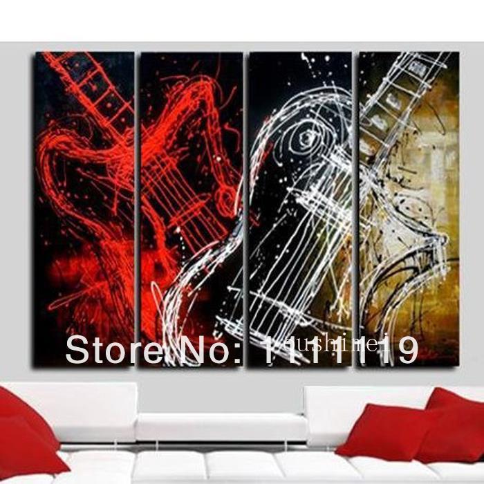 Accrocher Sa Guitare Au Mur Beau Images ᗕmain Moderne Encore Vie S Sur toile Abstraite Guitare