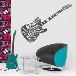 Accrocher Sa Guitare Au Mur Impressionnant Images Objet Déco Découpé Guitare Electrique Fleurs Vertikale Décoration