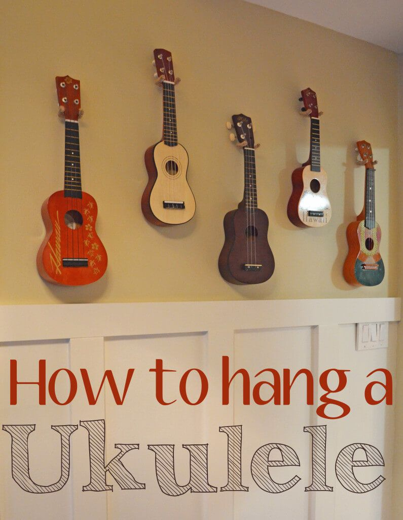 Accrocher Sa Guitare Au Mur Impressionnant Photos How to Hang A Ukulele Smart Girls Diy