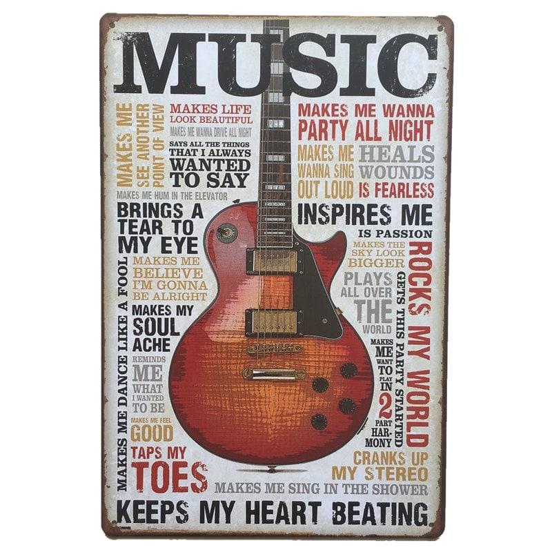 Accrocher Sa Guitare Au Mur Inspirant Collection Multicolore Peinture Rétro En Métal De Style De Violon Pour Le Mur