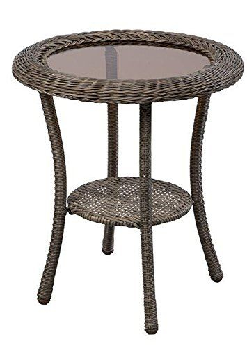 Amazon Table Pliante Beau Photographie Spring Haven Grey Round Patio Side Table Image to Review
