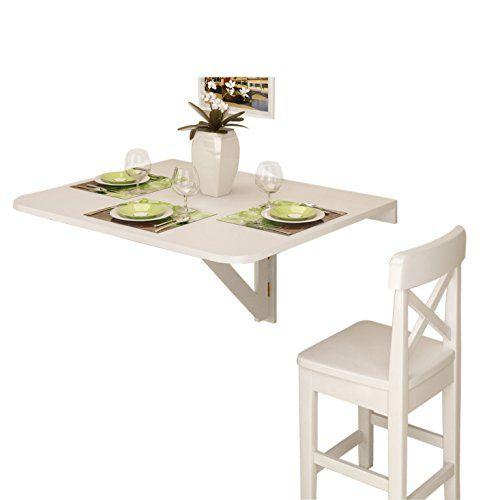 Amazon Table Pliante Nouveau Galerie Wall Mount Drop Leaf Folding Table White solid Wood S