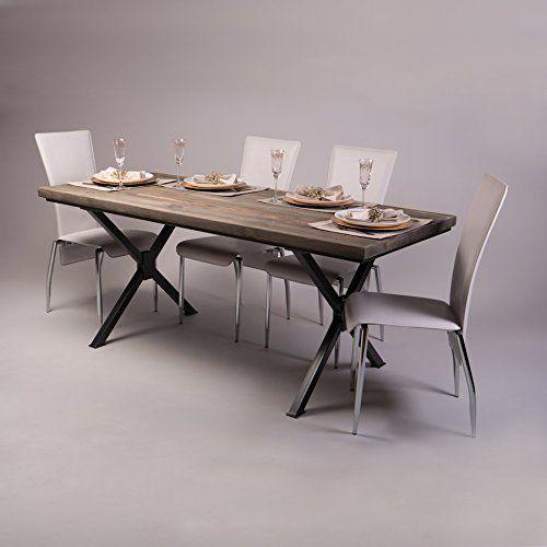 Amazon Table Pliante Nouveau Photographie X Förmige Beine Industrie Esstisch Fernanda Brown Graphite Grey