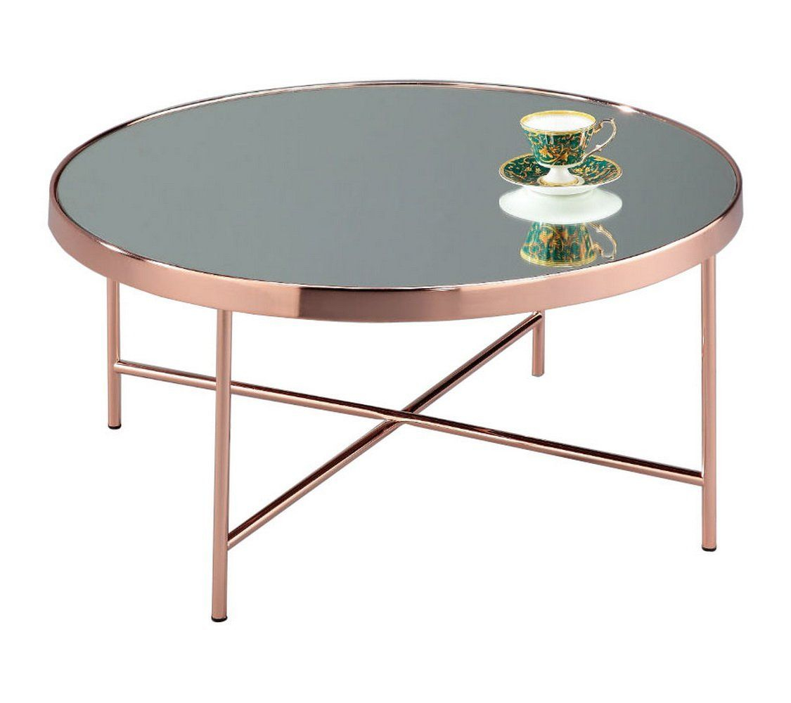 Amazon Table Pliante Nouveau Photos Fino D aspect Effet Miroir Table Basse Ronde En Verre En Métal En