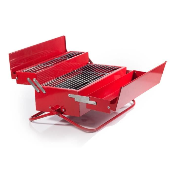 Amenagement Exterieur Coin Barbecue Beau Photos Barbecue Portable Bo Te  Outils Rouge Achat Vente Barbecue