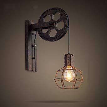 Applique Salle De Bain Vintage Unique Images Chose Créative Appliques Murale Rétro Style Loft Style Lampe Poulie