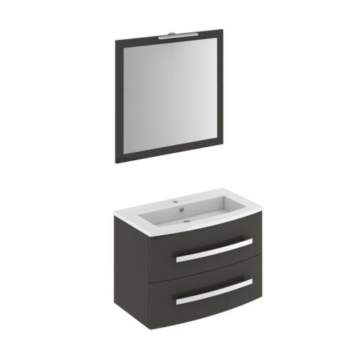 Armoire De toilette Miroir Leroy Merlin Nouveau Collection Meuble Vasque 82 Cm Gris Perla