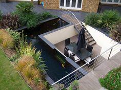 Bassin Jardin Moderne Élégant Photos Leuke Vijver Idee N Gardens Water Garden Features