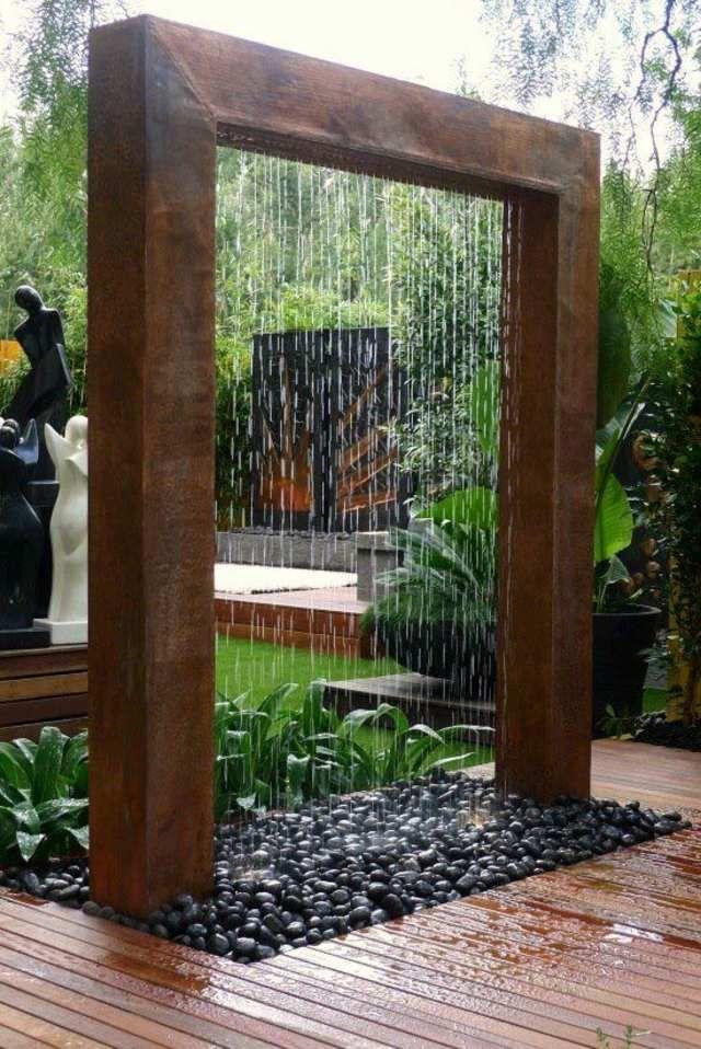 Bassin Jardin Moderne Unique Images Installer Une Fontaine De Jardin Moderne Pinterest