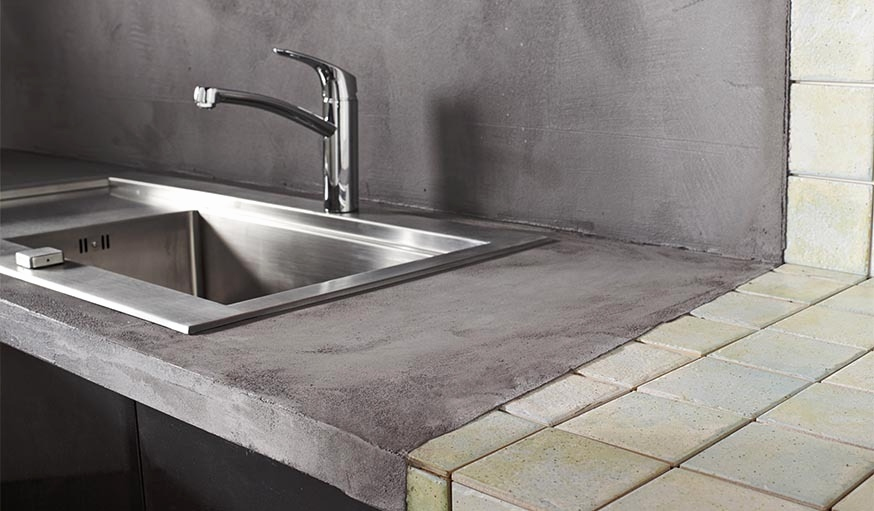 Beton Mineral Sur Carrelage Salle De Bain Beau Image Pose Carrelage Mural Sans Joint Béton Décoratif L Enduit Béton