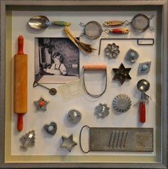 Boite A Chapeau Casa Impressionnant Galerie Framed Vintage Kitchen Utensils Kitchens Pinterest