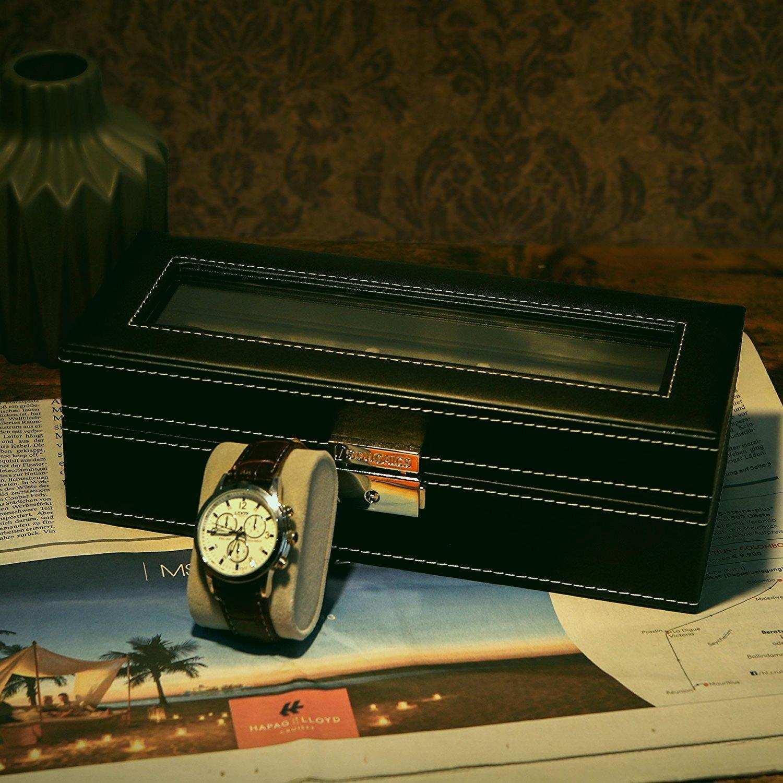 Boite A Chapeau Casa Luxe Galerie Amazon Boite Rangement Amzdeal Coffret Montre Bote En Cuir Avec