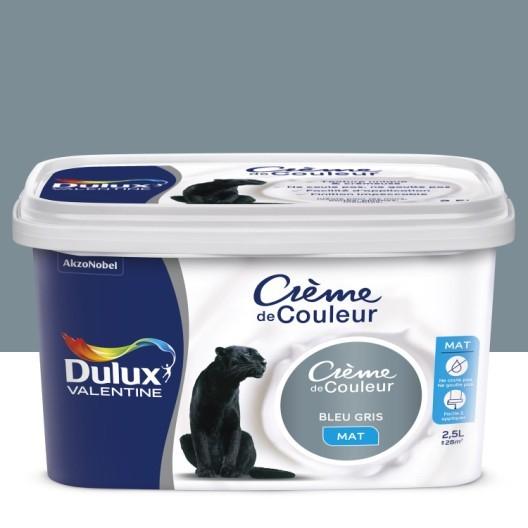 Bombe Peinture Tissu Leroy Merlin Frais Stock Peinture Bleu Gris Mat Dulux Valentine Cr¨me De Couleur 2 5 L