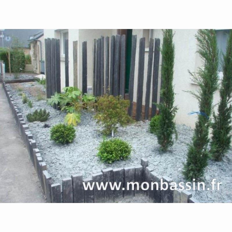 Bordure Jardin Moderne Beau Images Parterre Ardoise Et Galet Beau Parterre En Galets Cool Parterre