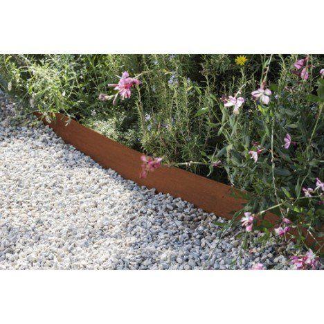 Bordure Jardin Moderne Frais Image Bordure  Planter aspect Rouille Acier Galvanisé Gris H 13 X L 118