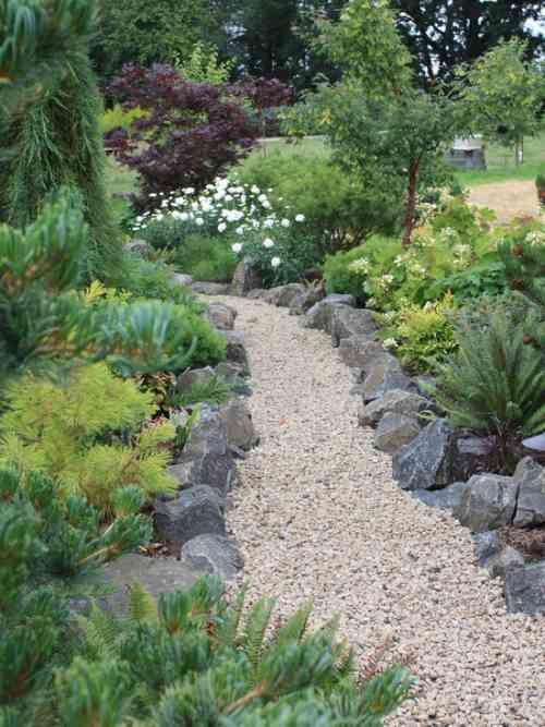 Bordure Jardin originale Impressionnant Images Aménagement Allée De Jardin Et Chemin De Pierre En 95 Idées