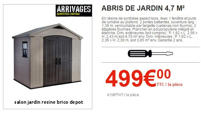 Brico Depot Salon De Jardin 2017 Unique Stock 22 Salon Jardin Resine Brico Depot