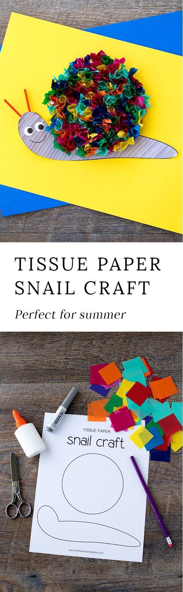 Bricolage tortue Maternelle Beau Photographie Rainbow Tissue Paper Snail Craft