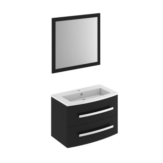 Brise Bise Leroy Merlin Impressionnant Images Meuble De Salle De Bains Perla L 81 Noir Simple Vasque
