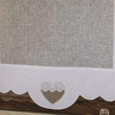 Brises Bises originaux Élégant Image Brise Bise Brise Bise Lin Blanc Coeur N7 Escapades Champªtres