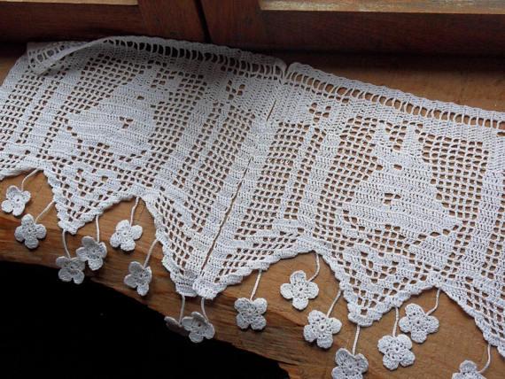 Brises Bises originaux Luxe Photos Rideau Brise Bise Au Crochet ¢ne Coton Blanc Fa§on Bellilois