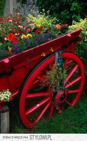 Brouette Deco Jardin Beau Galerie Cart Full Of Flowers I Love the Pretty Red Wagon Wheel
