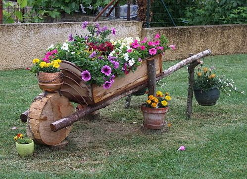 Brouette Deco Jardin Frais Photographie Brouette Fleurie Wheelbarrow Pinterest
