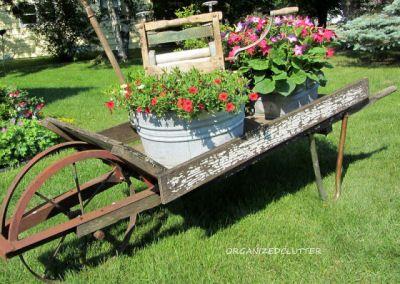 Brouette Deco Jardin Luxe Collection Wheelbarrow Planters Reuse Re Purpose Recycle Garden