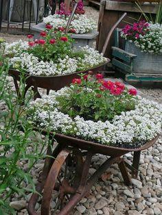 Brouette Deco Jardin Meilleur De Photos Décoration Jardin En Objets De Récupération En 31 Idées Rusées