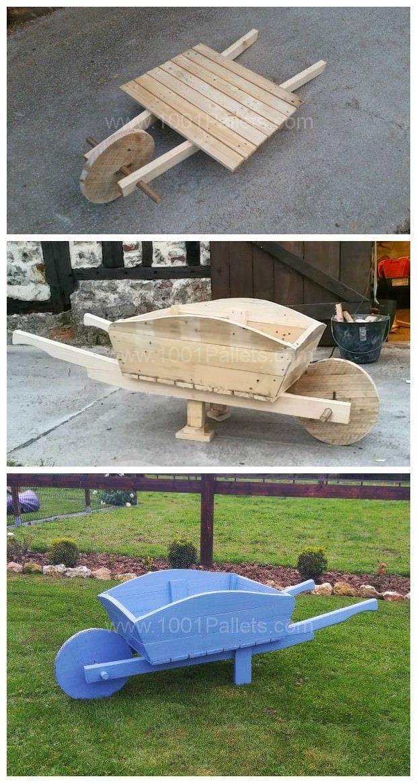 Brouette Deco Jardin Nouveau Collection Pallet Wheelbarrow Used as A Planter & Decoration for My Garden