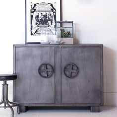Buffet Peu Profond Unique Photographie Eleonora Dressoir Industrie 120 Cm Breed 2 Deurs Metal