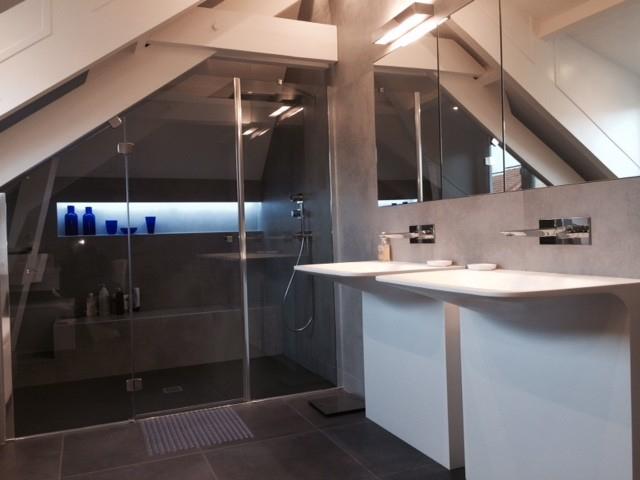Cabine De Douche sous Pente Impressionnant Galerie Idee Amenagement Salle De Bain sous Ble Maison Design Nazpo