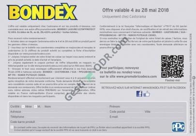 Cache Paumelle Castorama Beau Image Bondex Lasure 12€ Remboursés