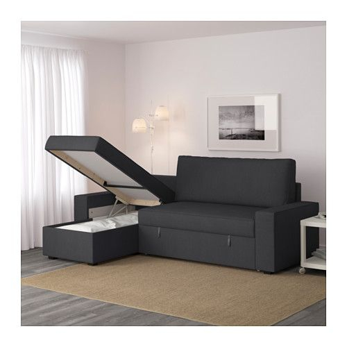 Canape Alice but Frais Photos Vilasund sofa Bed with Chaise Longue Dansbo Dark Grey Ikea