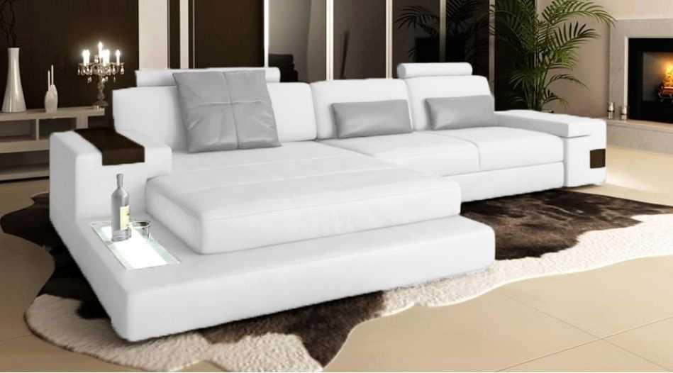 Canape Angle Bi Matiere Inspirant Stock Beau Canape Cuir Blanc Angle • Tera Italy