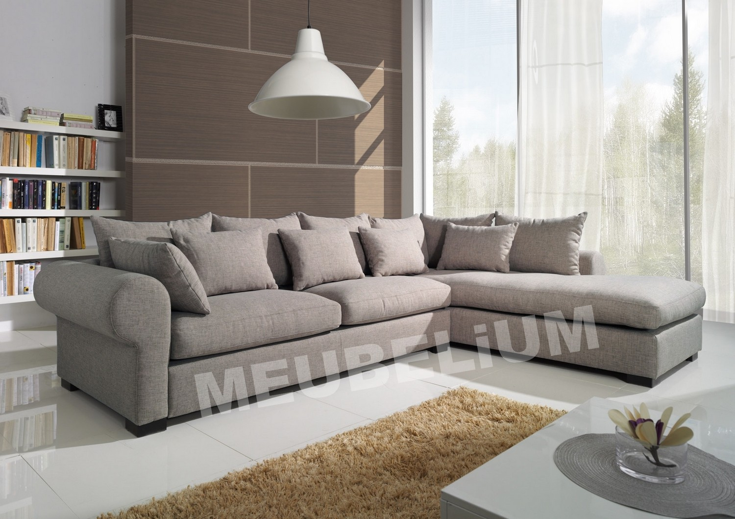 Canape Angle Cdiscount Luxe Collection Canape D Angle Cuir Et Tissu Pas Cher