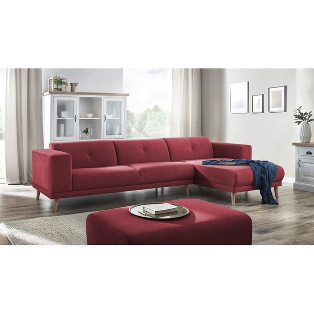 Canape Angle Cuir Rouge Luxe Stock Canape D Angle Droit Luna Pouf Trinity toucher Velours Rouge 09