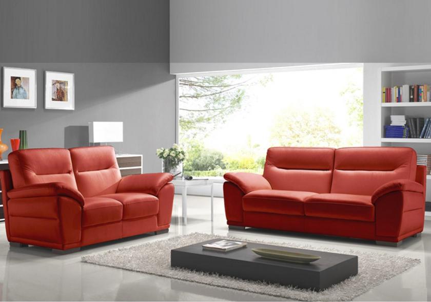 Canape Angle Cuir Rouge Nouveau Image Canapé Cuir Design Rouge Calino Canapé & Salon Cuir Moderne