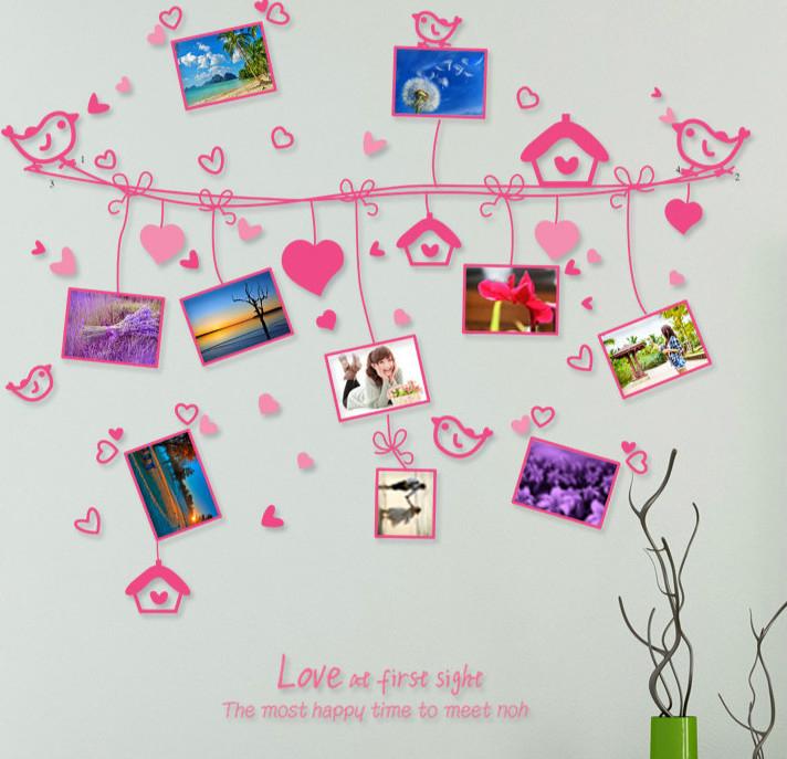 Canapé Bas Ras Du sol Inspirant Photos ᗜ Ljഃamour Corde Cadre Photo Stickers Muraux Pour Salon Chambre Tv