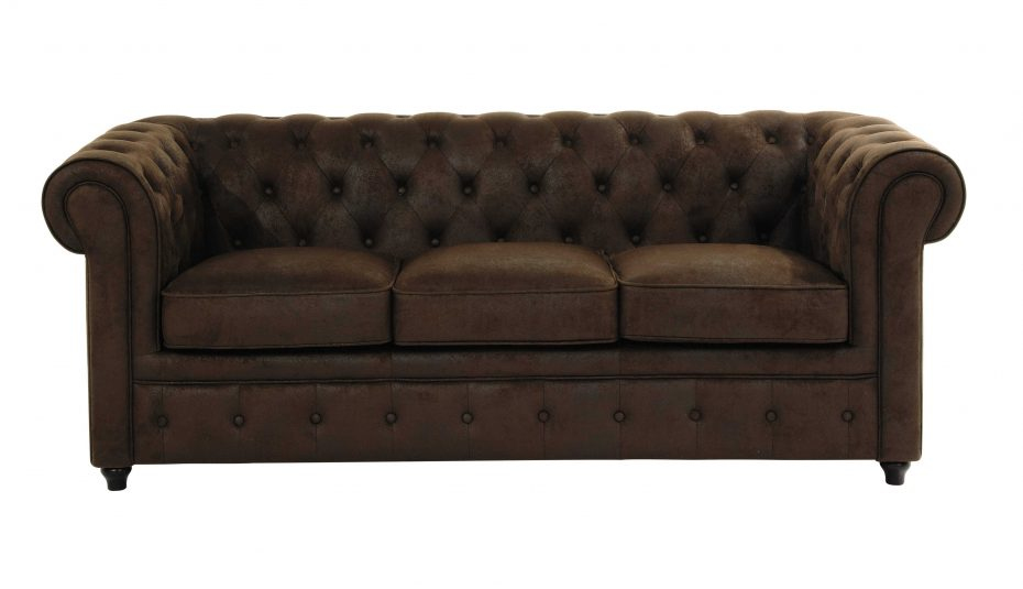 Canapé Chesterfield Tissu Lin Impressionnant Stock Canape Cana Brun Cuir Chesterfield Angle Convertible Fonce Vieilli