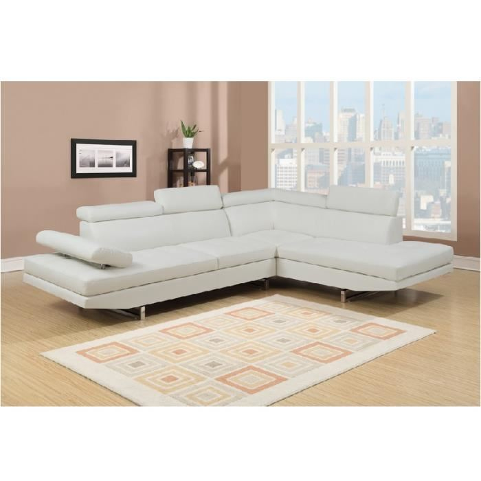 Canapé Convertible Ubaldi Impressionnant Collection Canape D Angle Cuir Blanc Cdiscount