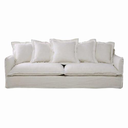 Canape Cuir Blanc Ikea Beau Collection Canape Convertible Cuir Blanc Luxe Canapé 5 Places En Lin Lavé Blanc