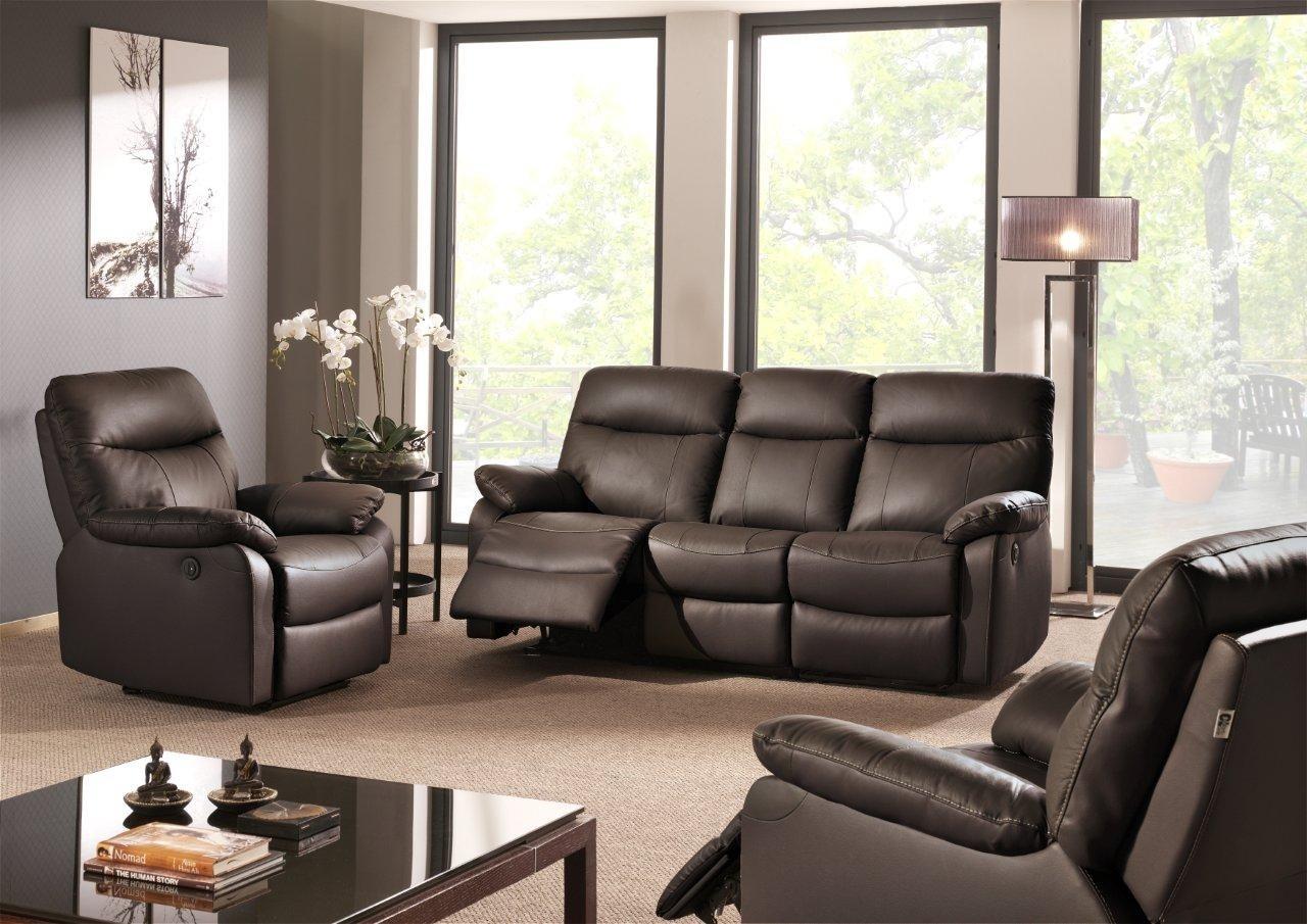 Canapé Cuir Relax Electrique 3 Places Cuir Center Inspirant