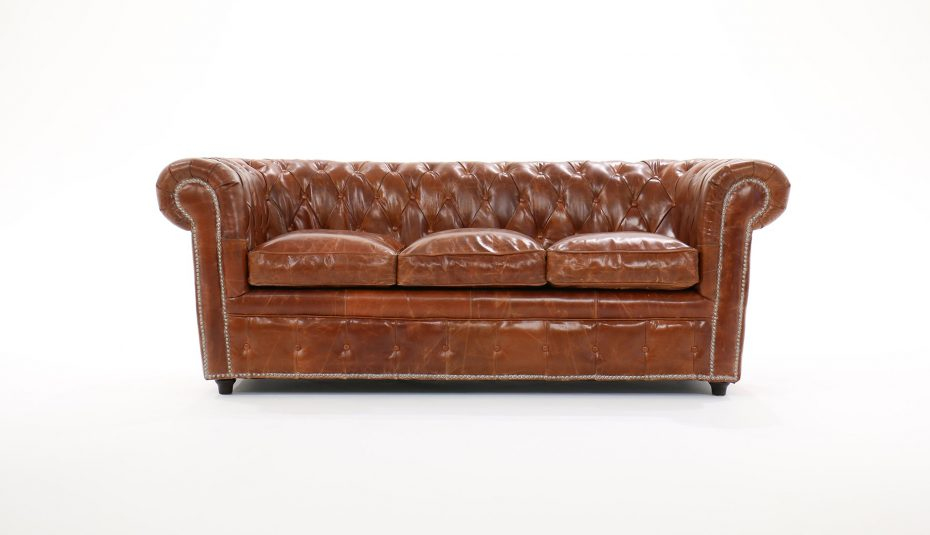 Canapé Cuir Vieilli Convertible Nouveau Galerie Places Convertible Club Chesterfield Vintage Capitonne Marron Simili