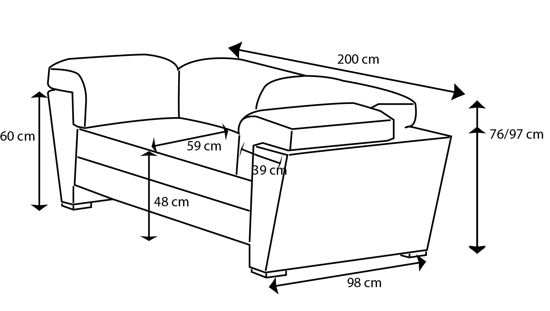 Canapé Densité 35 Kg M3 Beau Image Dimension Dun Clic Clac Standard