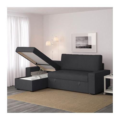 Canape Julia but Frais Photos Vilasund sofa Bed with Chaise Longue Dansbo Dark Grey Ikea