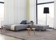 Canapé Lit Sans Accoudoir Luxe Image Canape Convertible En Lit Bleu Ou Gris Avec Pieds En Metal Chrome