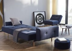 Canapé Lit Sans Accoudoir Luxe Images Canape Convertible En Lit Bleu Ou Gris Avec Pieds En Metal Chrome
